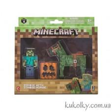 Зомби и лошадь Майнкрафт (Minecraft Zombie with Zombie Horse Action Figure Pack)