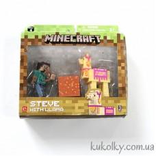 Стив с ламой Майнкрафт (Minecraft Steve with Llama Action Figure)