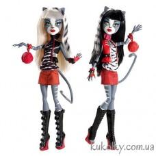 Куклы Мяулодия и Пурсефона базовые (Monster High Meowlody and Purrsephone Doll 2-Pack)
