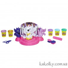 Набор пластилина Плей До Стильные прически Май литл пони (Play-Doh My Little Pony Canterlot Court)
