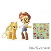 Кукла минис Эпплджек и пони с блеском
