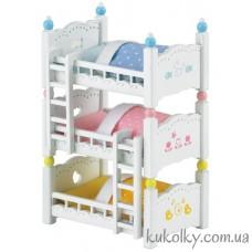 Трехъярусная кровать Сильваниан Фемилис (Sylvanian Families Triple Bunk Beds)