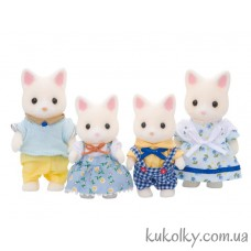 Набор Семья Шелковых кошек Сильвания Фемилис (Sylvanian Families Silk Cat Family)
