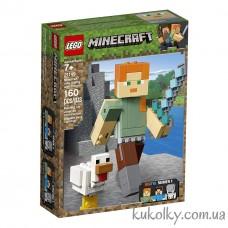 Конструктор LEGO MINECRAFT 21149 Большие фигурки Minecraft, Алекс с цыплёнком.