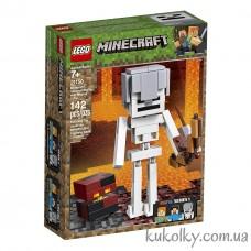 Конструктор LEGO MINECRAFT 21150 Большие фигурки Minecraft, скелет с кубом магмы.